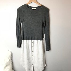 Hayden Sweater T-Shirt Dress Combo Size Small